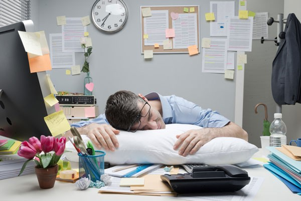 Sleeping at the office isnt healthy in the long run
