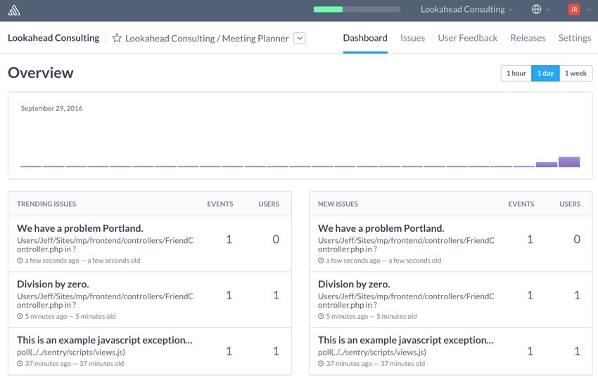 Building Startups Logging - The Sentry Dashboard
