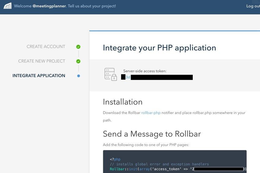 Building Startups Logging - Rolbar Integrate Your PHP Application
