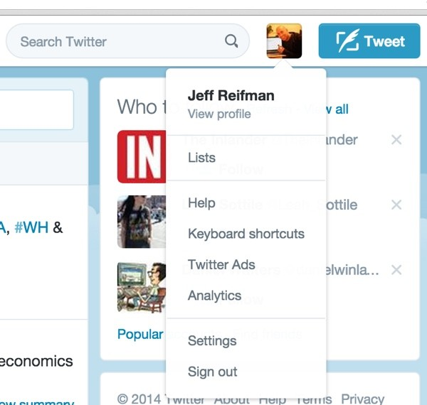 Access to Twitter Lists is Secondary in the User Interface