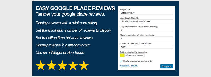 Easy Google Places Reviews