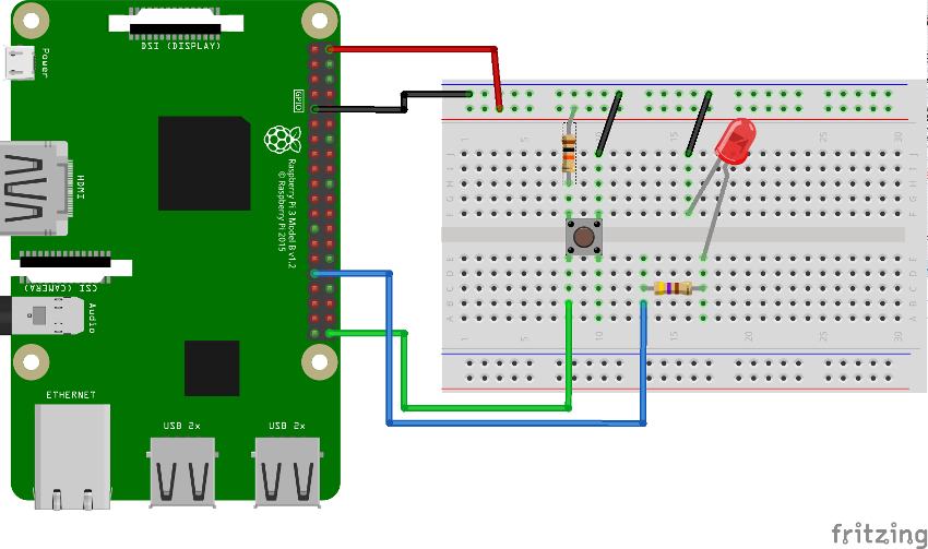 Wiring diagram for Raspberry Pi