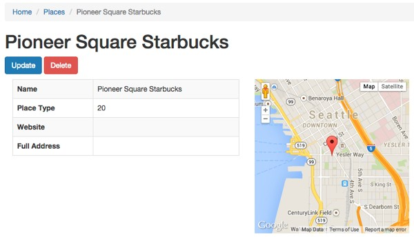 Meeting Planner View A Place With Google Maps