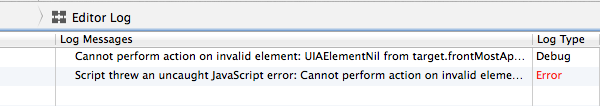 Instruments Error Message Screenshot