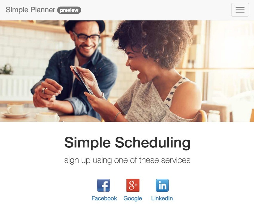 Building Your Startup Multiple Domains - SimplePlannerio Home Page with Social Image