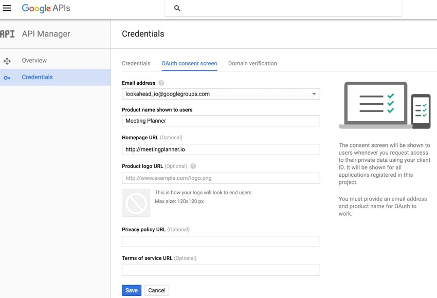 Building Your Startup OAuth - Google Dev App Credentials Preview