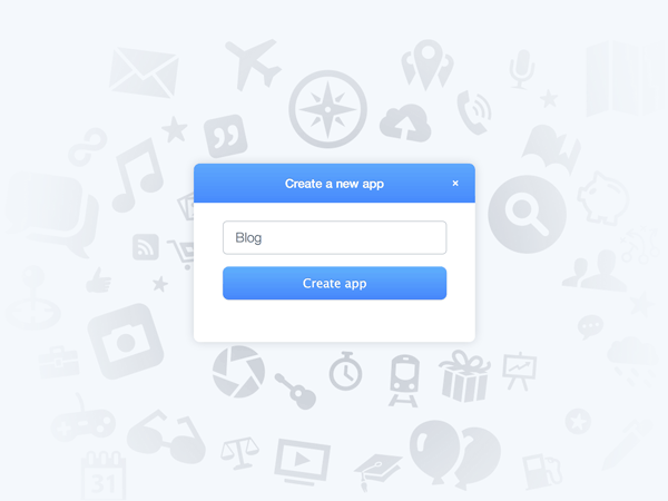 Create a blog app on Parsecom