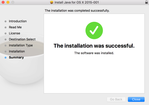 Java Installer Screen