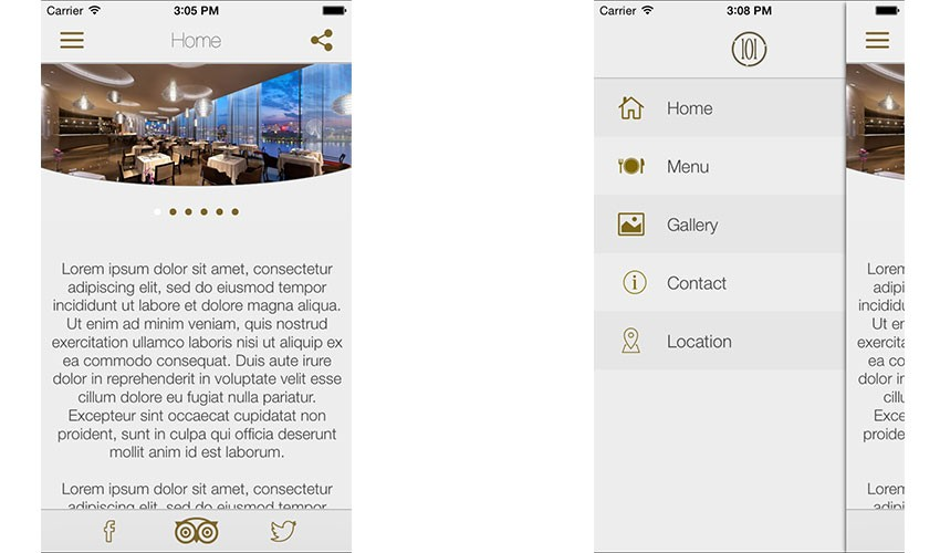 Restaurant IOS template