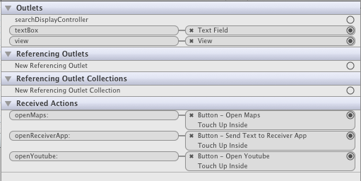 Sender XIB Interface Builder Connections